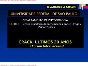 mulheres e crack - Unifesp