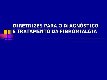 diretrizes para o diagnóstico e tratamento da fibromialgia - Unifesp