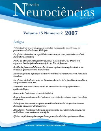 Revista Volume 15 Número 2 2007 - Unifesp