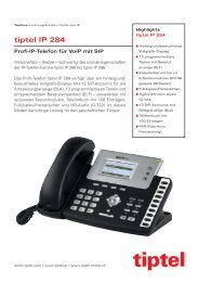 Produktinfo Tiptel IP284 - Unified Solution GmbH