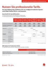 Nutzen Sie professionelle Tarife. - Unified Solution GmbH