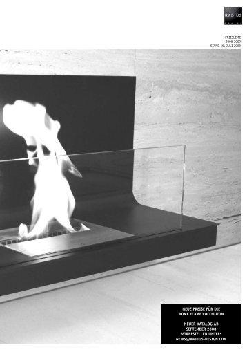 neue preise für die home flame collection neuer katalog ab - Milano