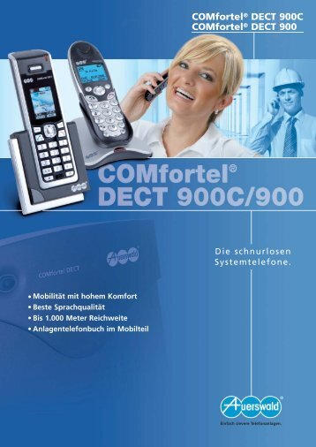COMfortel® DECT 900C COMfortel® DECT 900 - Unified Solution ...