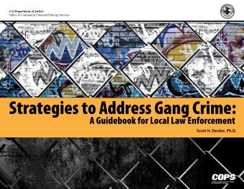 Strategies to Address Gang Crime: - Cops - Department of Justice