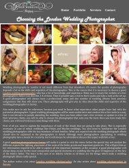 Choosing the London Wedding Photographer