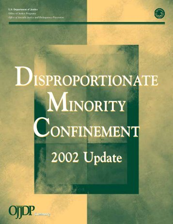 Disproportionate Minority Confinement - National Criminal Justice ...