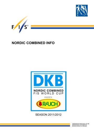 NORDIC COMBINED INFO - International Ski Federation