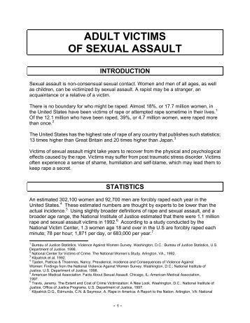 of sexual victims behaviors graph assault