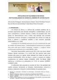 prevalência de polifarmácia em idosos institucionalizados ... - UniFil