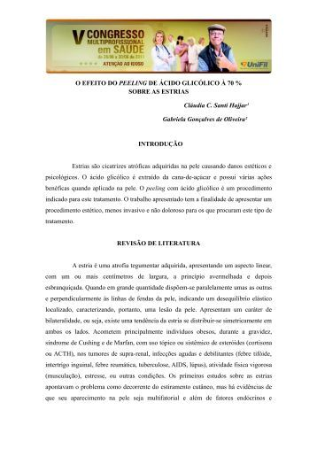 O EFEITO DO PEELING DE ÁCIDO GLICOLICO à 70 ... - UniFil
