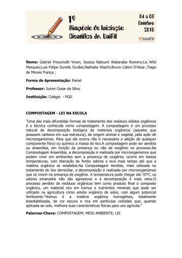 Luis Felipe Durello Durães - UniFil