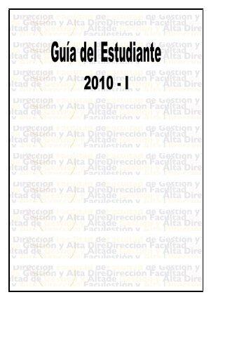 facultad de gestión y alta dirección - Pontificia Universidad Católica ...