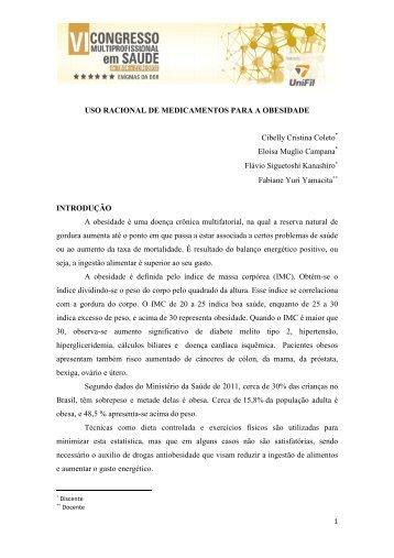 USO RACIONAL DE MEDICAMENTOS PARA A OBESIDADE - UniFil