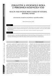 zdravotní a hygienická rizika z přírodních koupacích vod