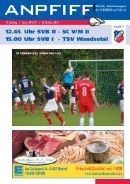 Anpfiff Ausgabe 7 zum 13. Spieltag