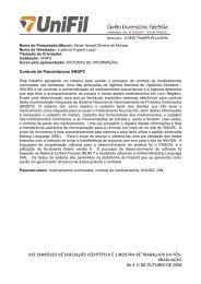 SISTEMA DE INFORMACAO - UniFil
