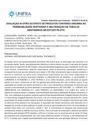 avaliação in vitro do efeito de produtos contendo arginina ... - Unifra