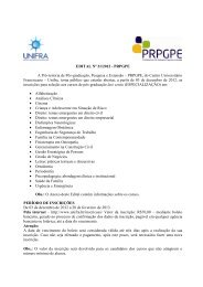 EDITAL Nº 21/2012 - PRPGPE A Pró-reitoria de Pós ... - Unifra