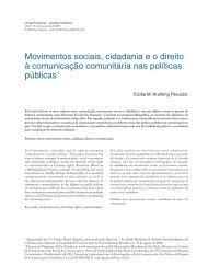 Movimentos sociais, cidadania e o direito à comunicação ... - Unifra