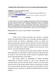 O ENSINO DAS ARTES EM SALA DE AULA NA ... - Unifra