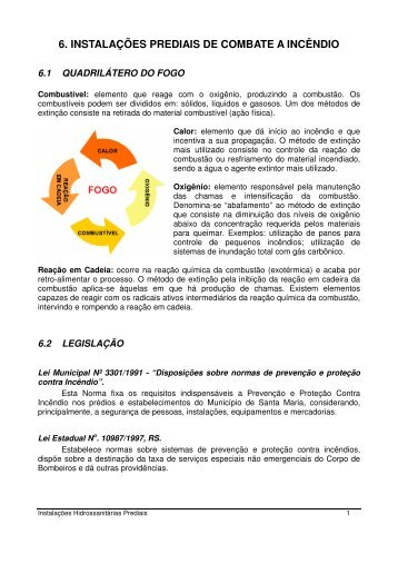 6. INSTALAÇÕES PREDIAIS DE COMBATE A INCÊNDIO - Unifra