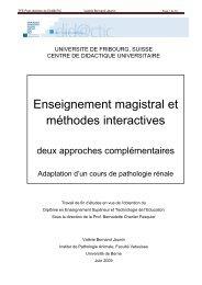 Enseignement magistral et méthodes interactives - Université de ...