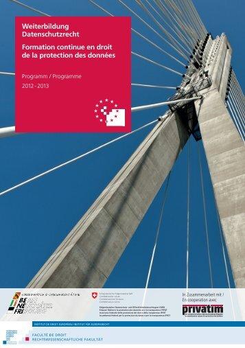 Programm - Eidgenössischer Datenschutz- und ...