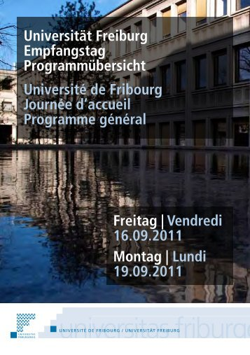 Weitere Informationen - Université de Fribourg