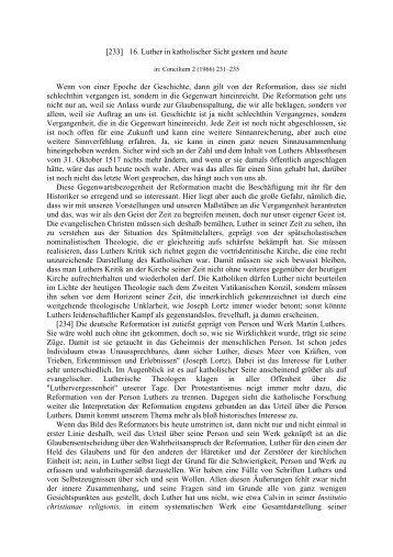 [233] 16. Luther in katholischer Sicht gestern und heute Wenn von ...