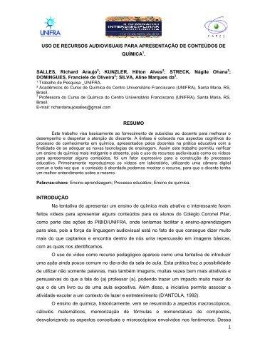 MODELO PARA ARTIGO DA SEMANA ACADÊMICA DO ... - Unifra