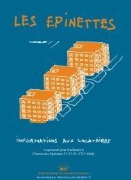 Logements pour étudiant(e)s Chemin des Epinettes 51-53-55, 1723 ...