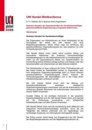 UNI Handel-Weltkonferenz - UNI Global Union