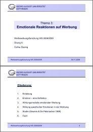 Emotionale Reaktionen auf Werbung - Georg-August-Universität ...