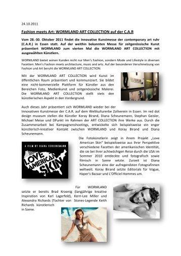 Fashion meets Art: WORMLAND ART COLLECTION auf der C.A.R
