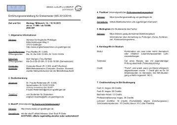 Einführungsveranstaltung für Erstsemester (WS 2011/2012)