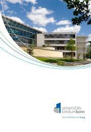 Geschäftsbericht 2009 - Universitätsklinikum Bonn - Universität Bonn