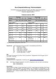 Kursplanung / Organisation Sommersemester 2010
