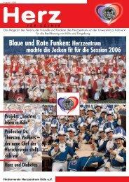 Blaue und Rote Funken Herzzentrum macht die Jecken fit