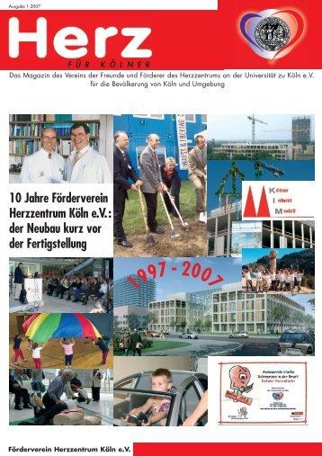 10 Jahre Förderverein Herzzentrum Köln e.V.: der Neubau kurz vor ...