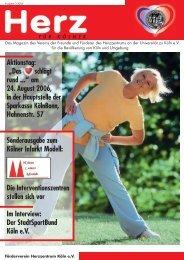 Ausgabe 3 / 2006: Sonderausgabe zum Kölner Infarkt ... - Herzzentrum