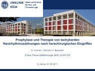 Prophylaxe und Therapie von tachykarden ... - Herzzentrum