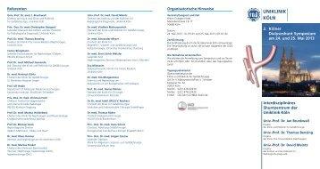 2. Kölner Dialyseshunt Symposium am 24. und 25 ... - Herzzentrum