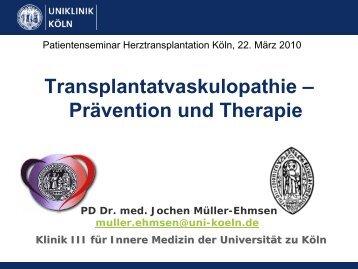 Transplantatvaskulopathie – Prävention und Therapie - Herzzentrum