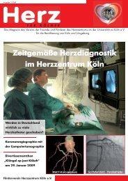 Ausgabe 3 / 2008: Zeitgemäße Herzdiagnostik im Herzzentrum Köln