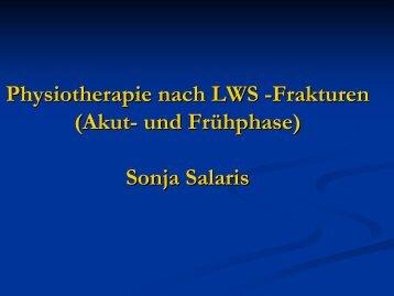 Physiotherapie nach LWS -Frakturen (Akut- und Frühphase) Sonja ...