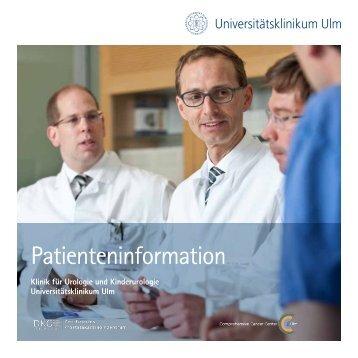 Patientenbroschüre - Universitätsklinikum Ulm