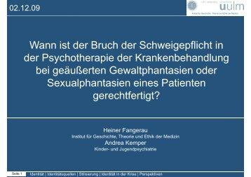 Wann ist der Bruch der Schweigepflicht in der Psychotherapie der ...