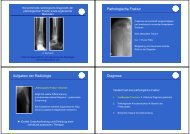 Pathologische Fraktur Aufgaben der Radiologie Diagnose