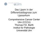Das Lipom in der Differentialdiagnose zum Liposarkom