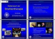 Stellenwert der Strahlentherapie - Universitätsklinikum Ulm